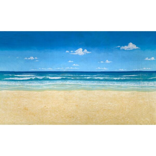 Perfect Beach with Sky Painted Backdrop BD-0021