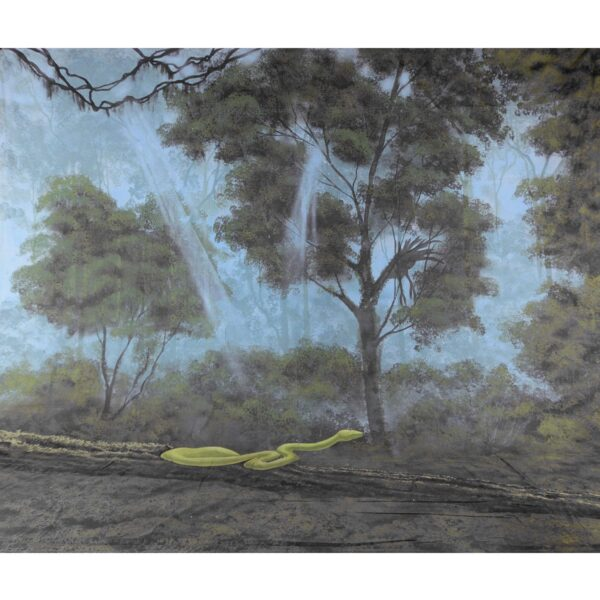 Forest Jungle Snake Painted Backdrop BD-0082