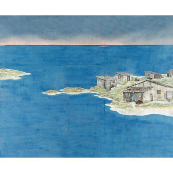 Storm Boy Island Painted Backdrop BD-0121