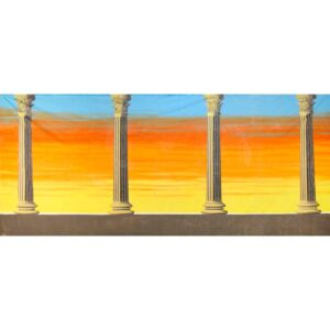 Roman Columns with Sunset Painted Backdrop BD-0130