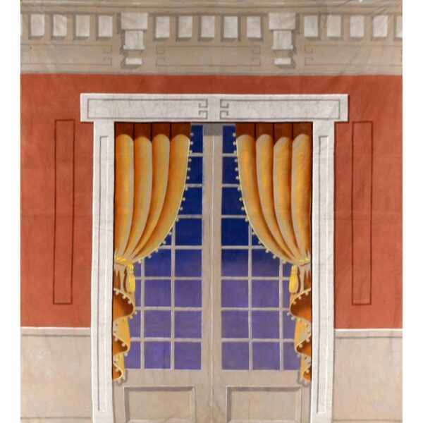 French Doors Painted Backdrop BD-0388
