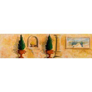 Greek Interior Wall Painted Backdrop BD-0181