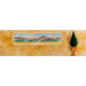 Greek Wall with Panorama Painted Backdrop BD-0184