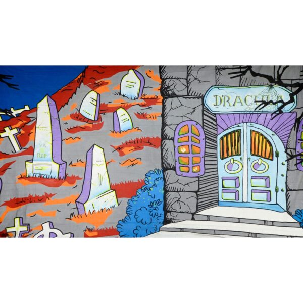 Halloween Cemetery Dracula Painted Backdrop BD-0200