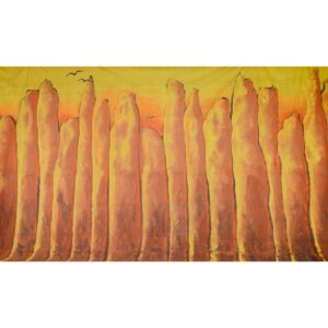 Lost City Mountains Painted Backdrop BD-0210