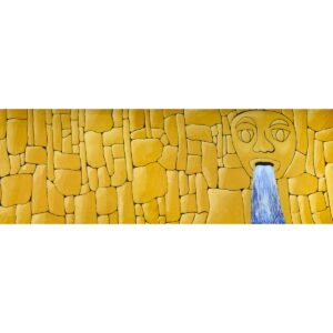 Stone Wall Face Waterfall Painted Backdrop BD-0211