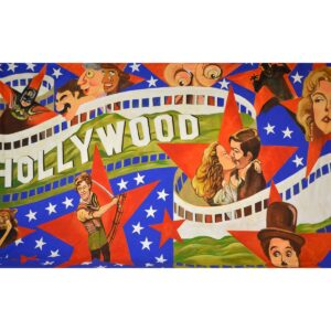 Hollywood Golden Age Montage Backdrop BD-0223
