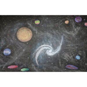 Galaxy Space Stars Planets Painted Backdrop BD-0230