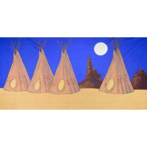 Wild West Indian Tipi in Desert Backdrop BD-0240