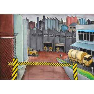 Factory Painted Backdrop BD-0281