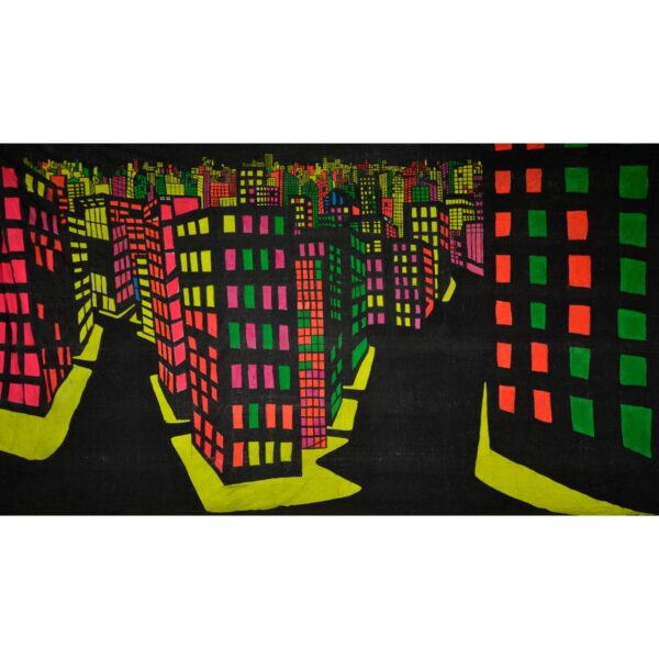 Fluorescent City Painted Backdrop BD-0283