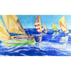 Yachts Painted Backdrop BD-0312