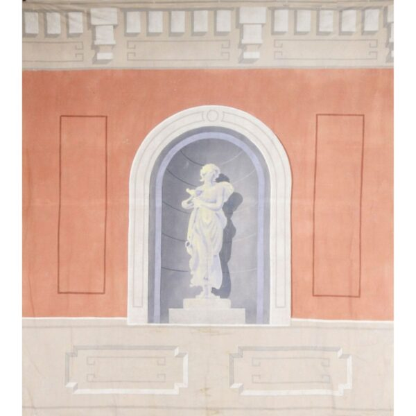 Elegant Statue in Wall Recess Painted Backdrop BD-0381