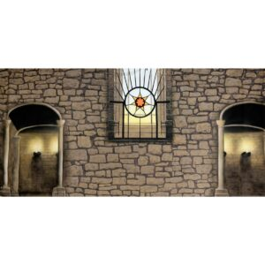 Castle Wall with Alcoves Painted Backdrop BD-0382