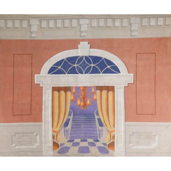 Doorway with Arched Header Painted Backdrop BD-0383