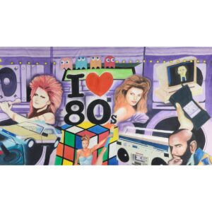 I Love 80s Painted Backdrop BD-0631