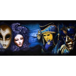 Masquerade Masks and Hats Backdrop BD-0651