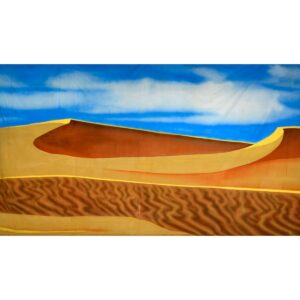 Arabian Desert Two Dunes Painted Backdrop BD-0683