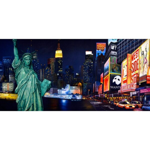 New York City Montage Painted Backdrop BD-0720