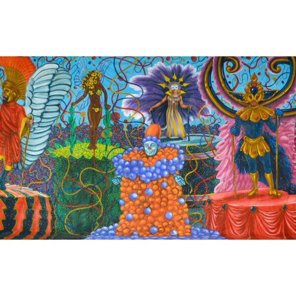 Mardi Gras Floats in Rio Painted Backdrop BD-0741