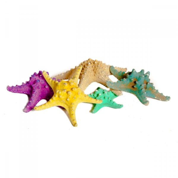 3 x Starfish (plastic/fibreglass) assorted sizes and colours STARFISH