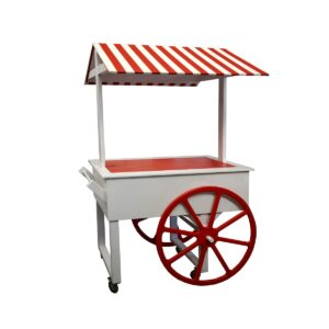 Cart 8 - Red and White Striped Food Cart