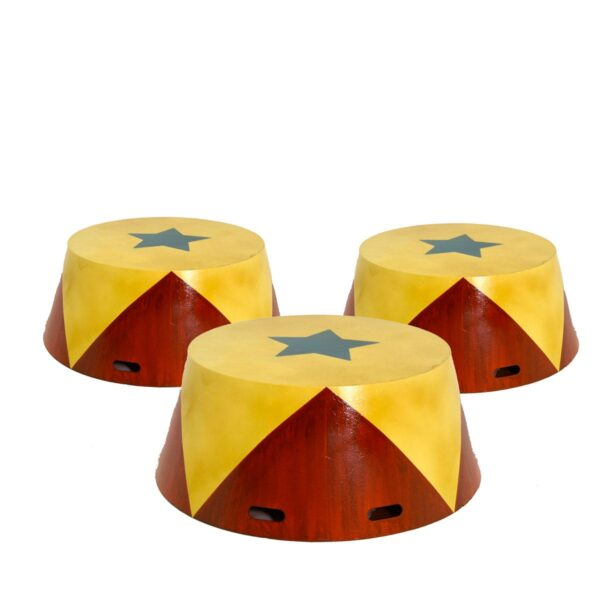 Extra Large Circular Vintage Circus Plinths - 3 Available in this size