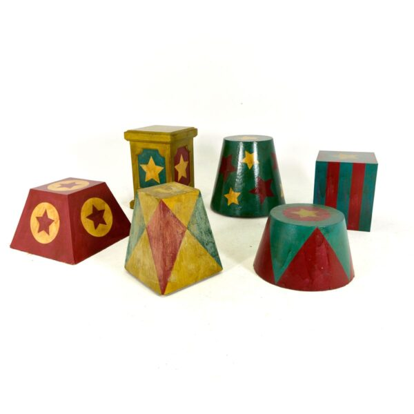 Assorted Vintage Circus Plinths - 6 Styles Available