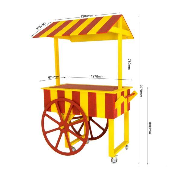 Cart 13 - Vintage Circus Food Cart - Measurements