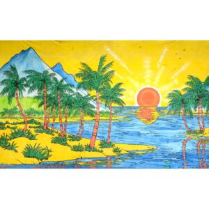 Tropical Paradise Painted Backdrop