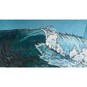 Large Wave Crashing Painted Backdrop BD-0032
