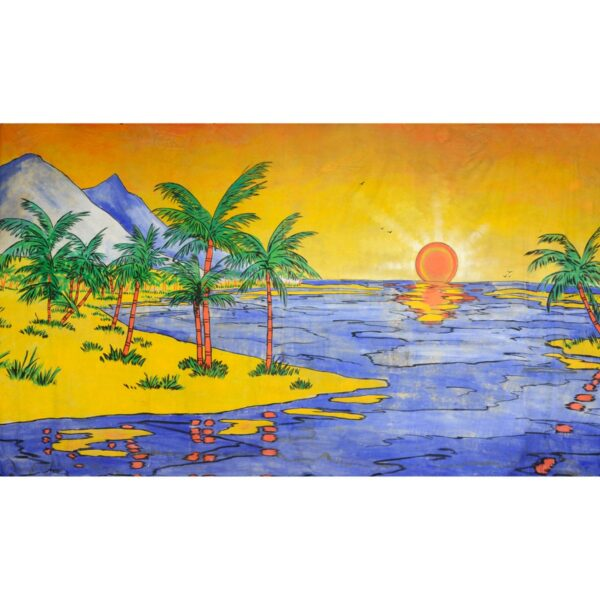 Another Caribbean Sunset Painted Backdrop BD-0033
