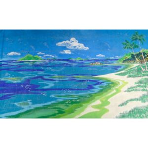 Beach on a Tropical Island Painted Backdrop BD-0034