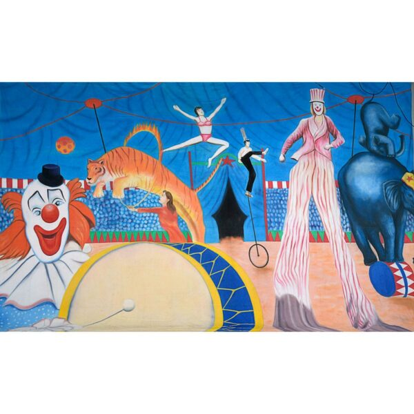 Circus Performers and Crowd Painted Backdrop BD-0047