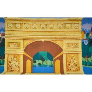 Arc de Triomphe Painted Backdrop BD-0185