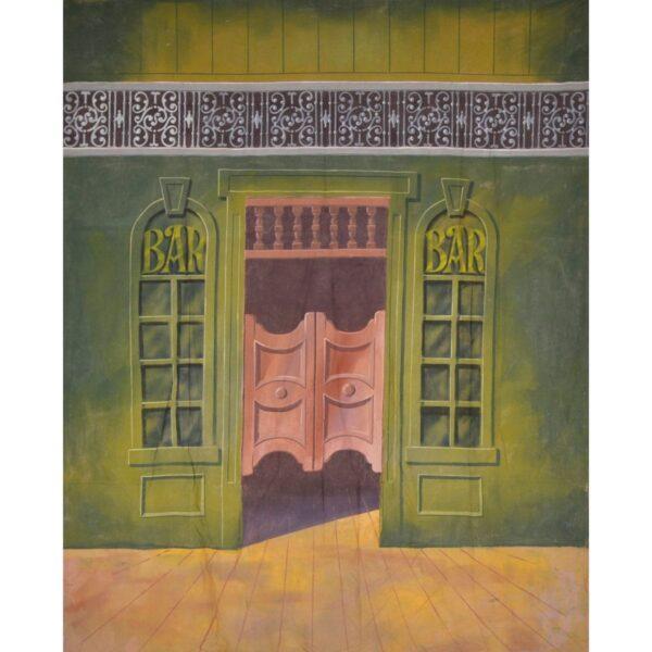 Western Saloon Entrance Painted Backdrop BD-0243