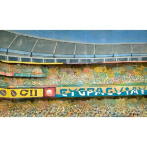Stadium Crowd Scene Painted Backdrop BD-0309