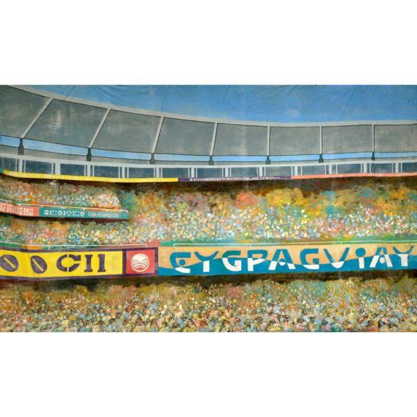 Stadium Crowd Scene Painted Backdrop BD-0309