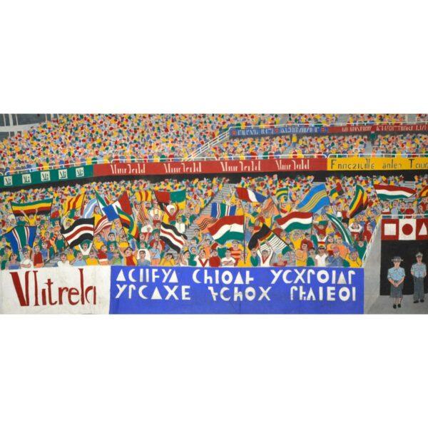 Stadium Crowd Scene Painted Backdrop BD-0314