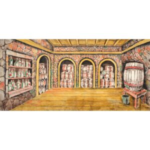 Wine Cellar Painted Backdrop BD-0396