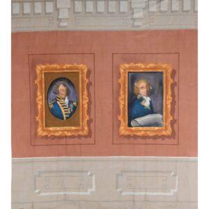 Bligh and Phillip Portrait Painted Backdrop BD-0397