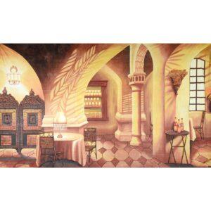 Casablanca Interior Painted Backdrop BD-0398