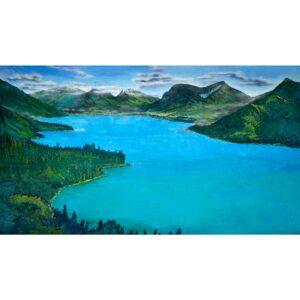 Mountain Lake Painted Backdrop BD-0523