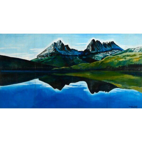 Mountain Mirror Lake Painted Backdrop BD-0524