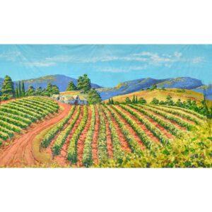 Winery Vineyard Painted Backdrop BD-0900