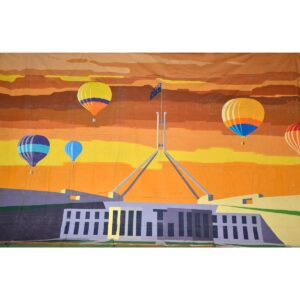Balloons Over Parliament House Painted Backdrop BD-0904