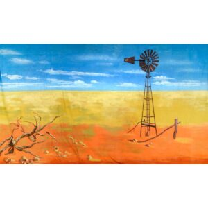 Australian Outback Windmill Painted Backdrop BD-0909