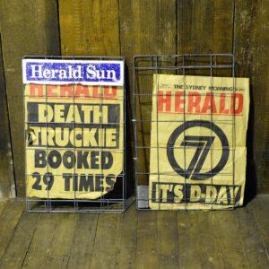 Newspaper Headline Stand