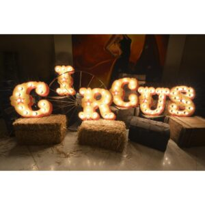 Vintage Circus - Illuminated Sign