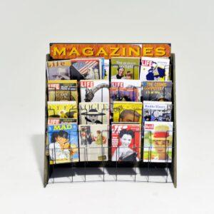 Newsagent Magazine Stand with Dummy Magazines